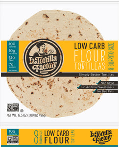 Low Carb Flour Tortillas, Burrito Size