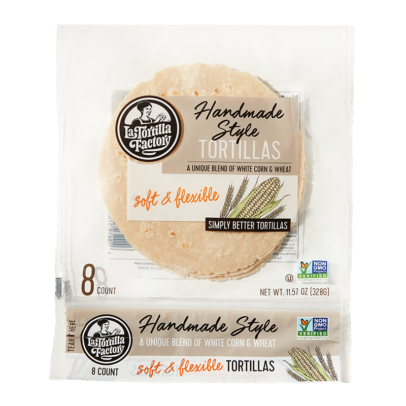 Handmade Style White Corn & Wheat Tortillas - 6 packages