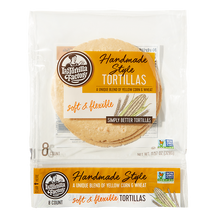Load image into Gallery viewer, Handmade Style Yellow Corn & Wheat Tortillas - 6 packages