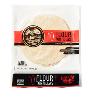 Traditional Non-GMO Flour Tortillas - 6 packages