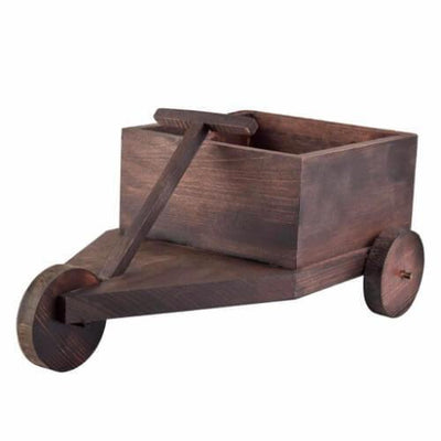Square Wooden Pull Cart