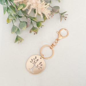 Family tree rose gold mirror Charm