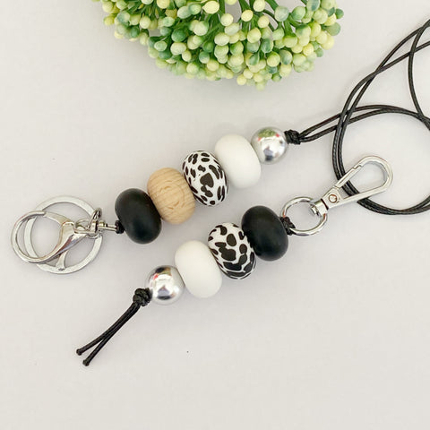 Black & White  Lanyard Only