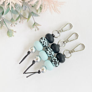 Black Sea Glass Dalmatian Keyring