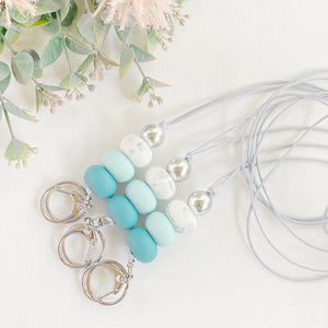 Teal Sea Marble Lanyard