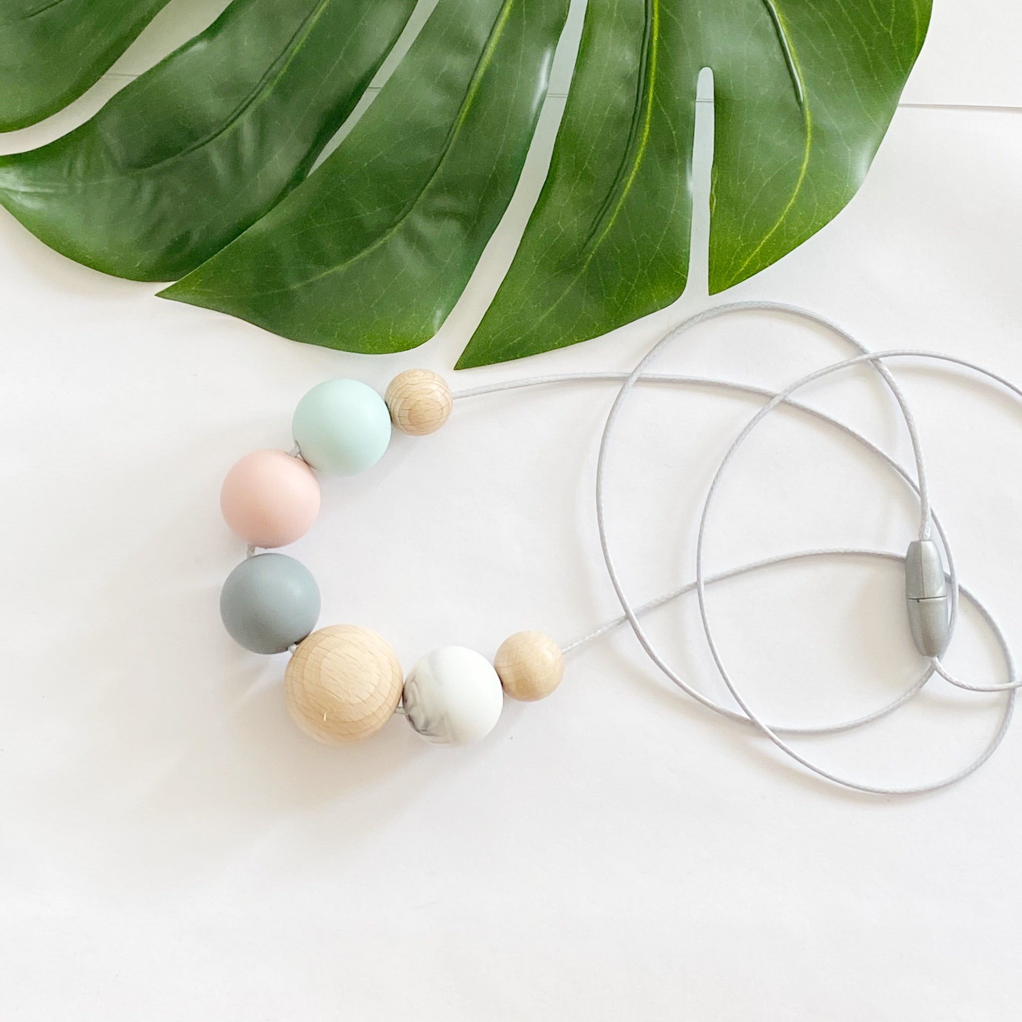 Pastel Wood Necklace