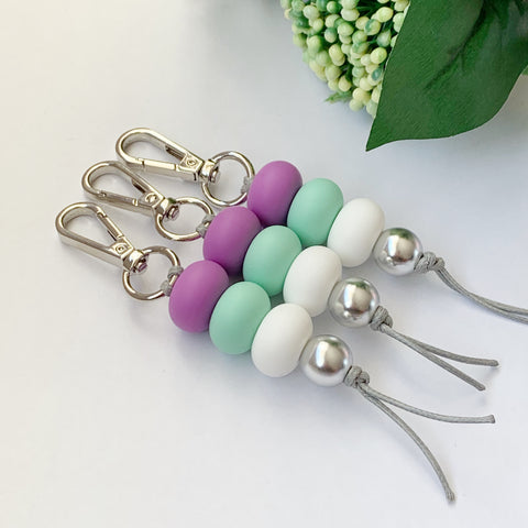Purple & Mint Keyring