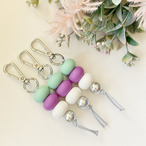 Mint & Purple keyring