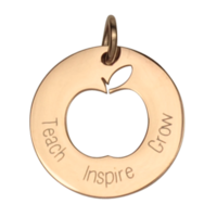 ROSE GOLD TEACH GROWN INSPIRE TEACHER CHARM