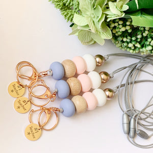 Serenity Rose Gold No.1 Teacher Charm Lanyard