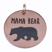 ROSE GOLD Mama Bear CHARM