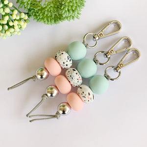 Sea Glass colour Print Keyring