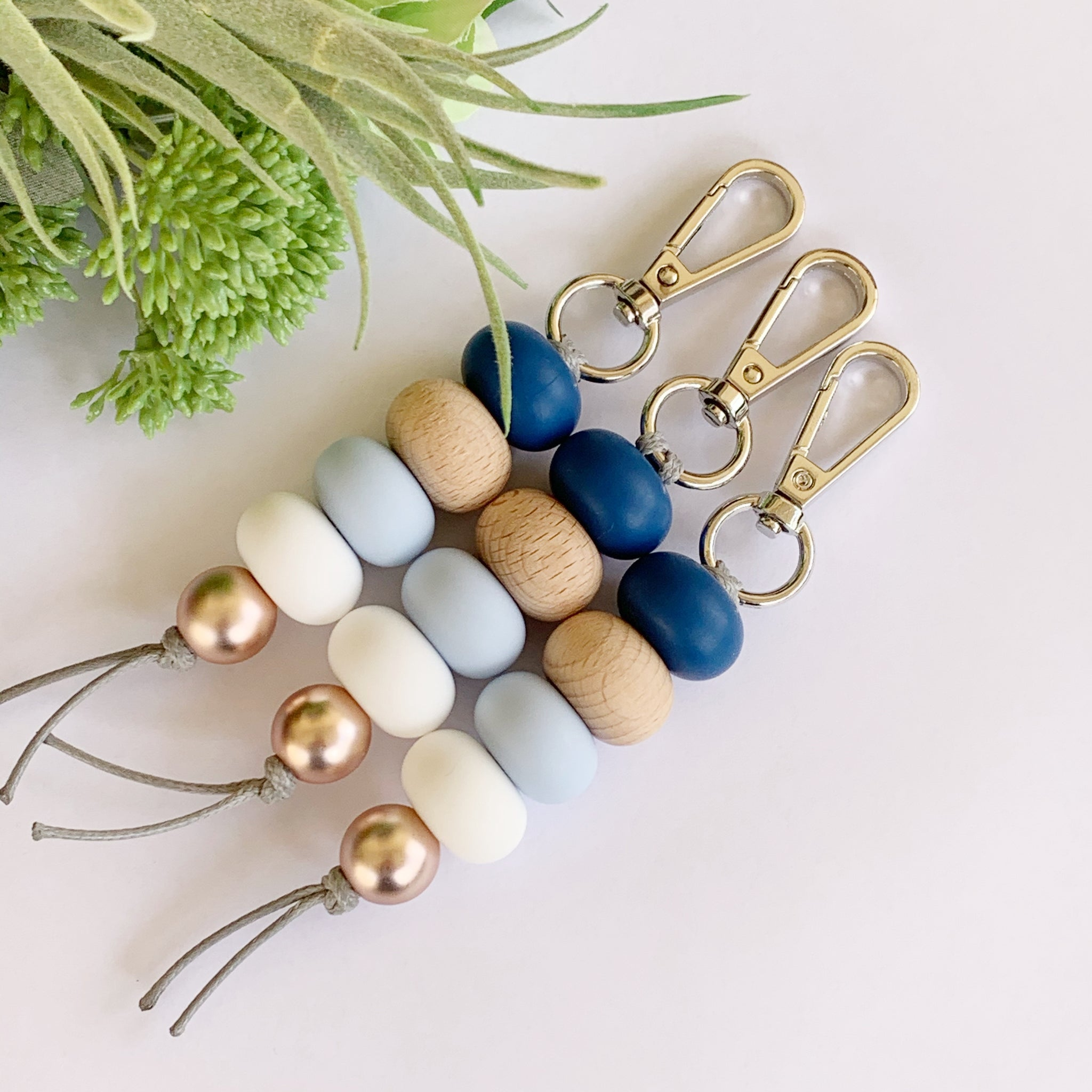 Blues Abacus Wood Keyring