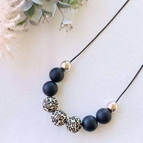Leopard Silicone Bead Necklace