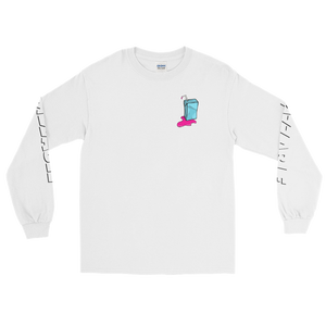 Original Frizzable Text Long Sleeve Shirt (White)