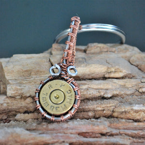 Wire wrapped ammo key chain