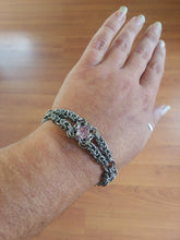 Load image into Gallery viewer, Pink Topaz Chainmaille Bracelet