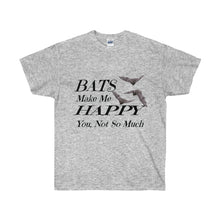 Load image into Gallery viewer, Bats Make Me Happy Unisex Tee