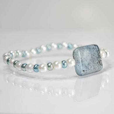 Kyanite Bracelet stretch bracelet - One Bad Bat