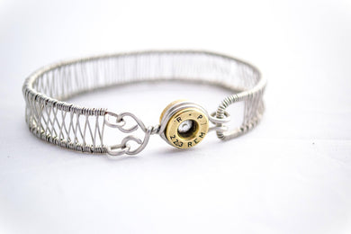 .223 caliber wire wrap cuff bracelet - One Bad Bat