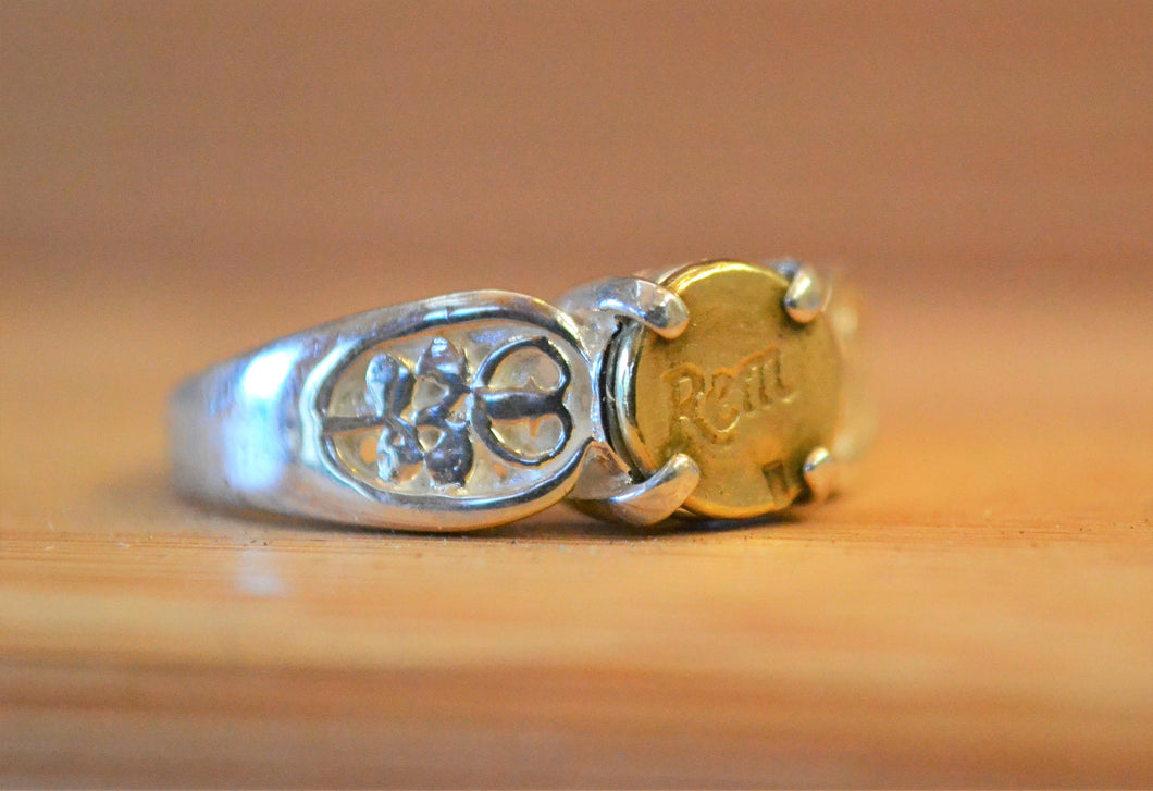 Sterling Silver 22 caliber ring - One Bad Bat