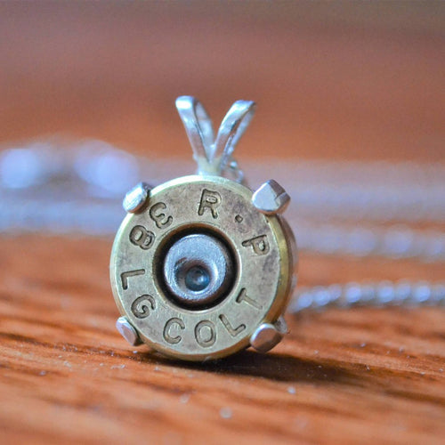 Sterling silver 38 special ammo pendant