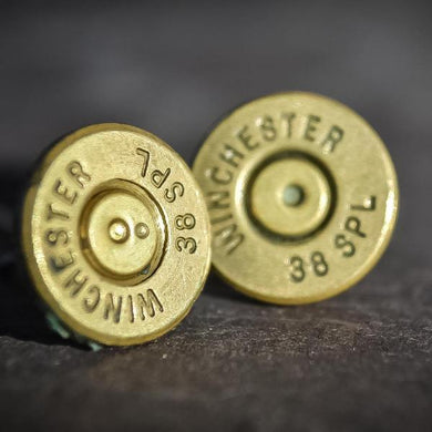Custom .38 special stud earrings - One Bad Bat