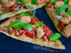 Hot and Spicy Shrimp Pizza