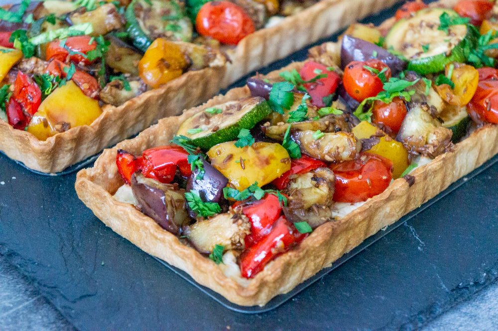 Savory Tart with Noubess Hot Sauce