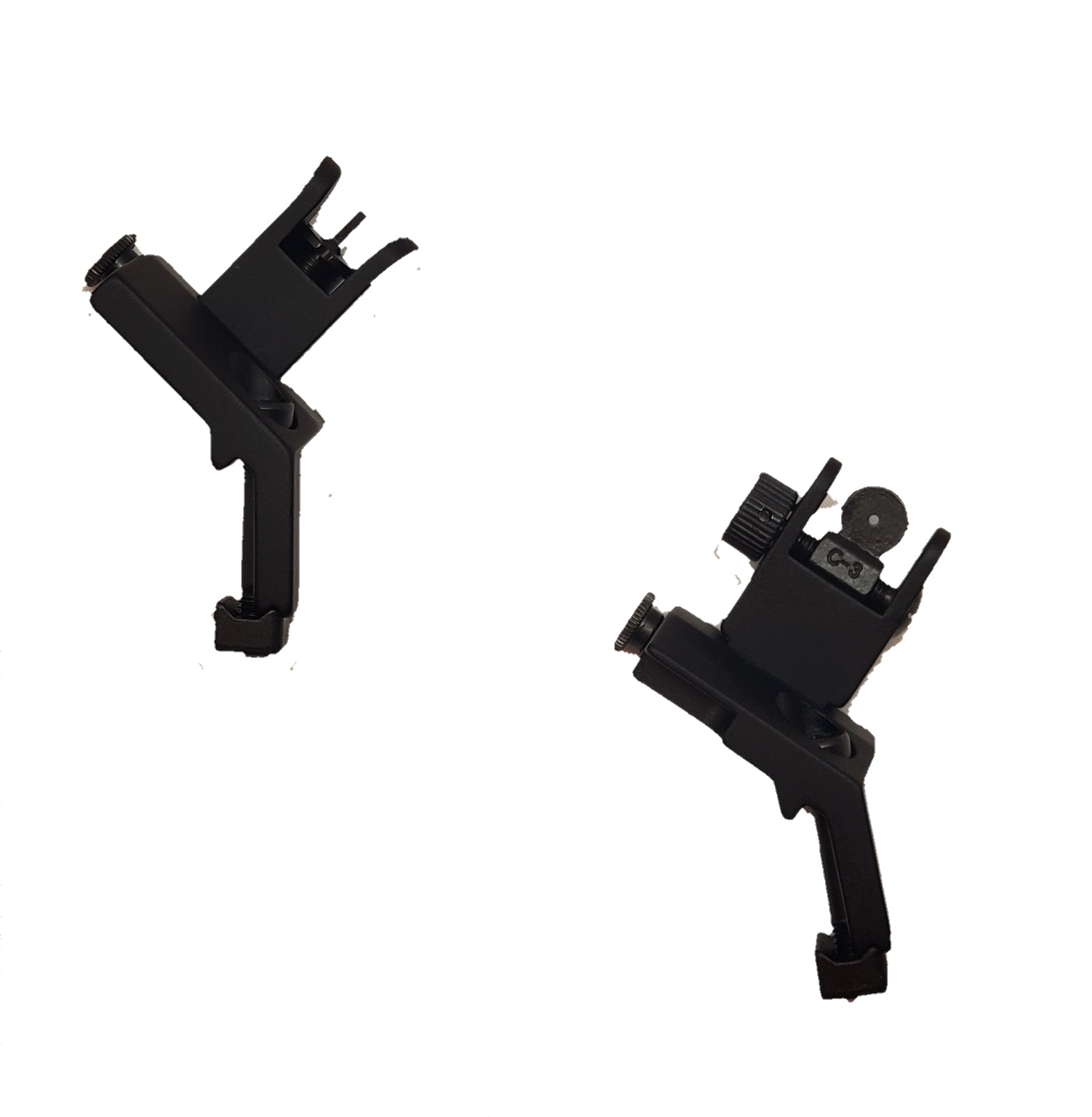 45 Degree Flip Up Offset Iron Sights by AT Tactical