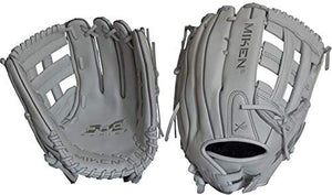 Miken Pro Series Slowpitch Softball Glove, 13, 13.5 ,14 inch, White, Right/Left Hand Throw - Ctfitnesswear