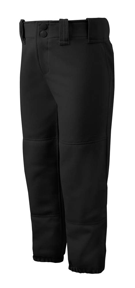 Mizuno Adult Women's Belted Low Rise Fastpitch Softball Pant, Black - Ctfitnesswear