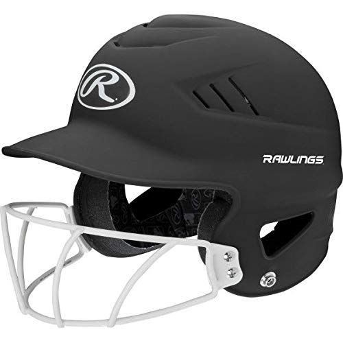 Rawlings Highlighter Series Coolflo Youth Baseball/Softball Batting Helmet with Face Guard - Ctfitnesswear