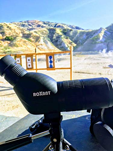 Roxant Authentic Blackbird High Definition Spotting Scope with Zoom - Rubber Armor, Fully Multi-Coated Optical Glass Lens + BAK4 Prism. Includes Tripod & Case + Lifetime Replacement - Ctfitnesswear