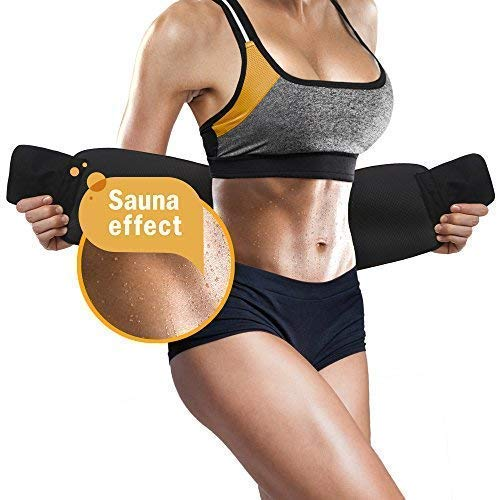 Perfotek Waist Trimmer Belt, Weight Loss Wrap, Stomach Fat Burner, Low Back and Lumbar Support with Sauna Suit Effect, Best Abdominal Trainer - Ctfitnesswear