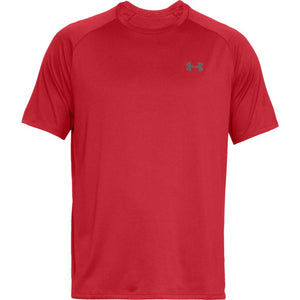 Under Armour mens Tech 2.0 Short Sleeve T-Shirt, Red (600)/Graphite, X-Large,more sizes available - Ctfitnesswear