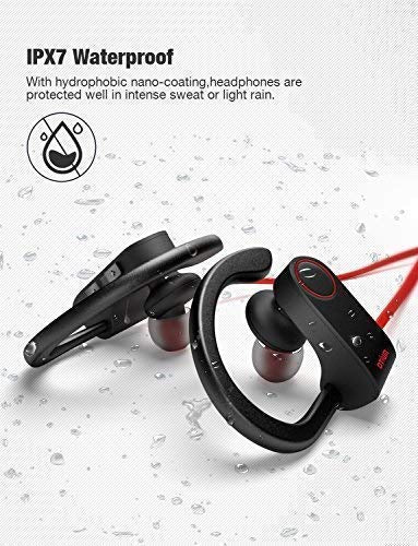 Otium Bluetooth Headphones, Best Wireless Earbuds IPX7 Waterproof Sports Earphones w/Mic HD Stereo Sweatproof in-Ear Earbuds Gym Running Workout 8 Hour Battery Noise Cancelling Headsets - Ctfitnesswear