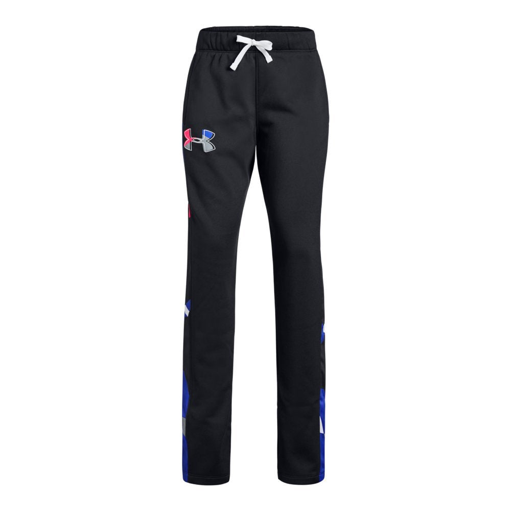 Under Armour Girls Armour Fleece Pants, Black (001)/Penta Pink, Youth Medium. click for more sizes - Ctfitnesswear