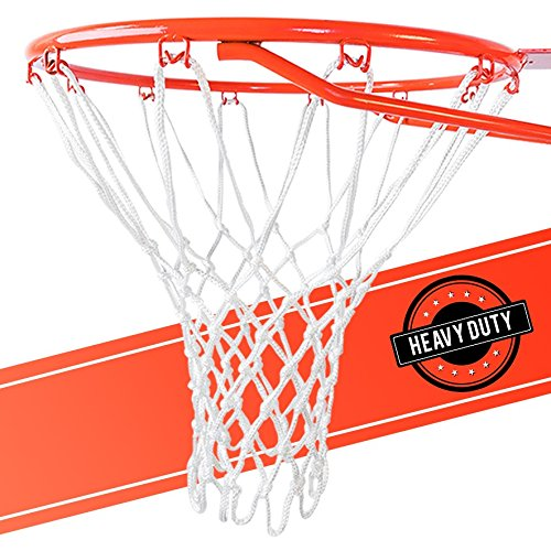 Ultra Heavy Duty Basketball Net Replacement - All Weather Anti Whip, Fits Standard Indoor or Outdoor Rims - White, 12 Loops - Ctfitnesswear