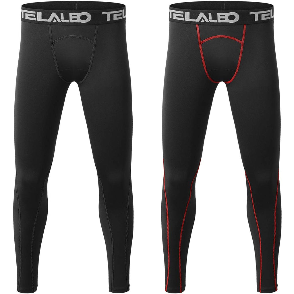 TELALEO Boys' Youth Compression Base Layer Pants Tight Running Leggings Trousers - Ctfitnesswear