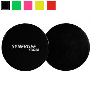 Synergee Jet Black Gliding Discs Core Sliders. Dual Sided Use on Carpet or Hardwood Floors. Abdominal Exercise Equipment - Ctfitnesswear
