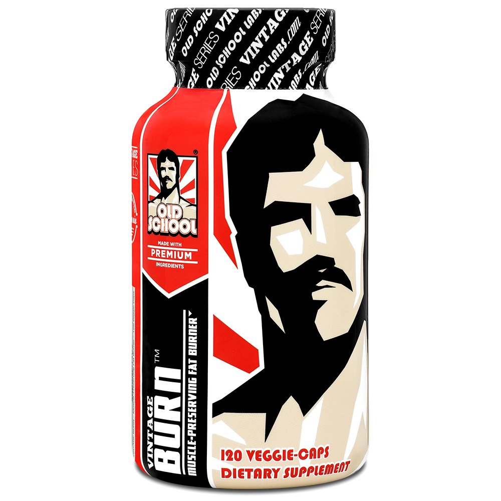 VINTAGE BURN Fat Burner - The First Muscle-Preserving Fat Burner Thermogenic Weight Loss Supplement - Keto Friendly, Appetite Suppressant - For Men and Women - 120 Natural Veggie Diet Pills - Ctfitnesswear