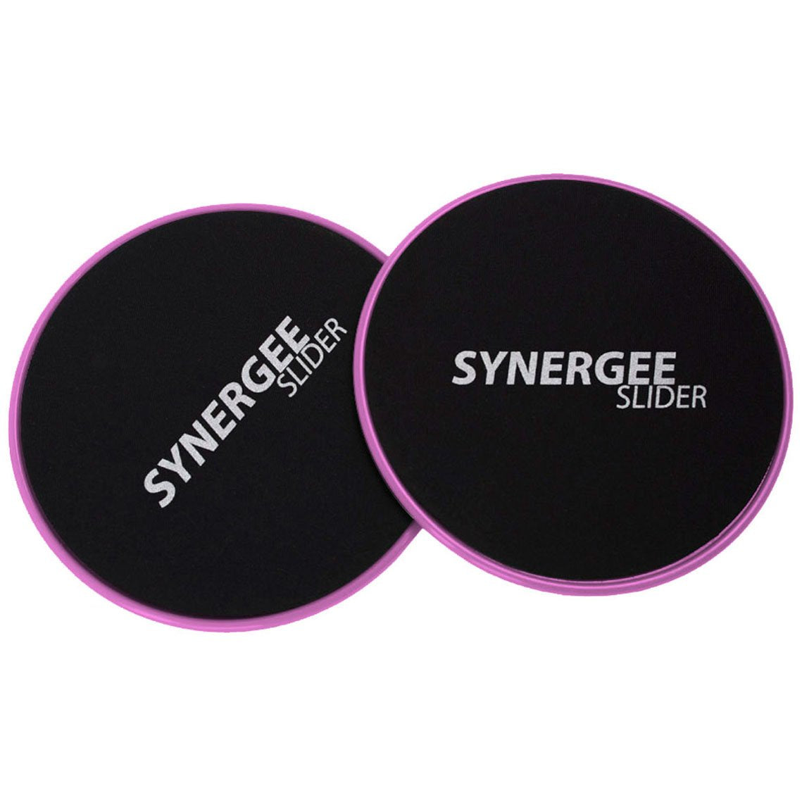 iheartsynergee Power Pink Core Sliders. Dual Sided Use on Carpet or Hardwood Floors. Abdominal Exercise Equipment