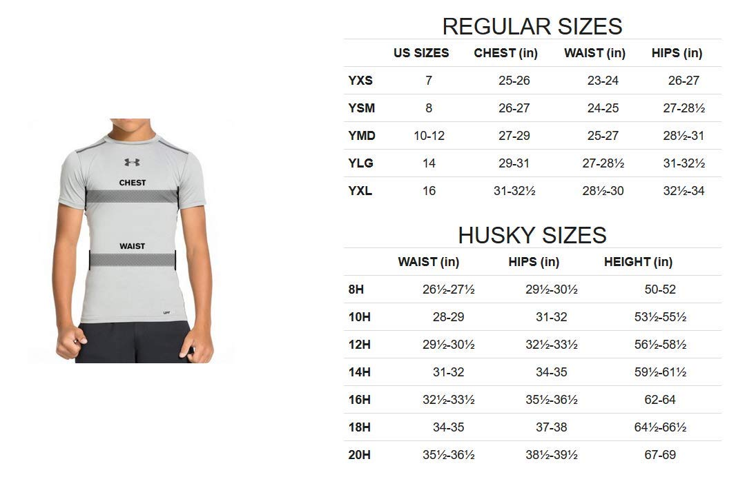 Under Armour Boys' ColdGear Armour Mock, Black (001)/Steel, Youth Medium,more sizes and colors available - Ctfitnesswear