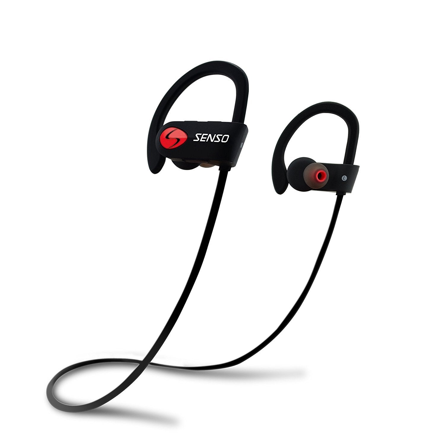 SENSO Bluetooth Headphones, Best Wireless Sports Earphones w/Mic IPX7 Waterproof HD Stereo Sweatproof Earbuds for Gym Running Workout 8 Hour Battery Noise Cancelling Headsets - Ctfitnesswear