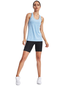 Neleus Workout Running Racerback Long Tank Top for Women,8006,3 Pack,Black,Grey,Blue,US L, more available sizes - Ctfitnesswear