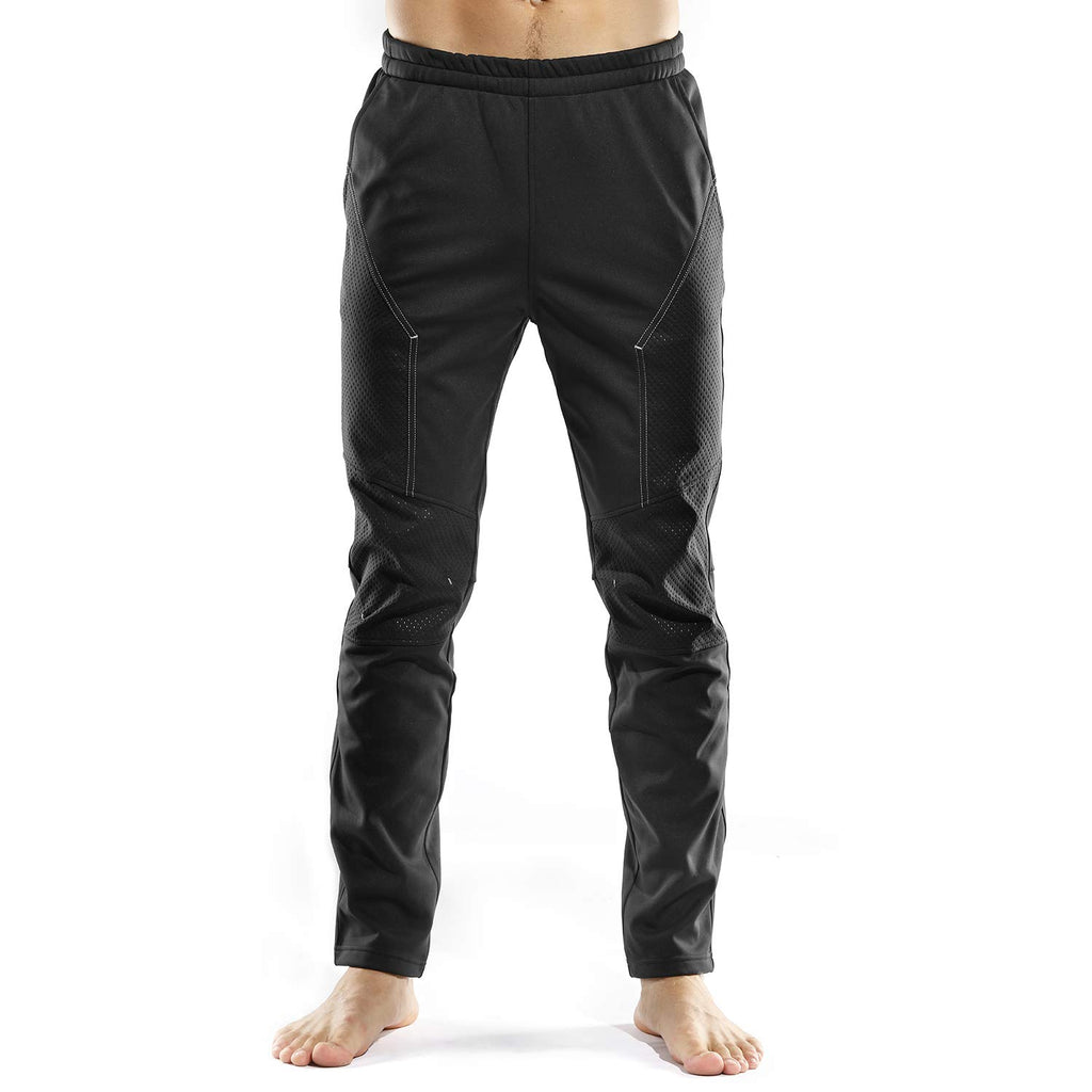 INBIKE Cycling Running Pants Jogger Winter Windproof Long Straight Sweat Pants Black Large (click for sizes) - Ctfitnesswear