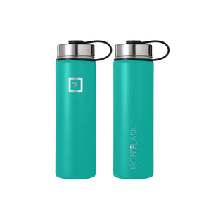 Iron Flask Sports Water Bottle - 3 Lids (Straw Lid), Vacuum Insulated Stainless Steel, Hot Cold, Modern Double Walled, Simple Thermo Mug, Hydro Metal Canteen