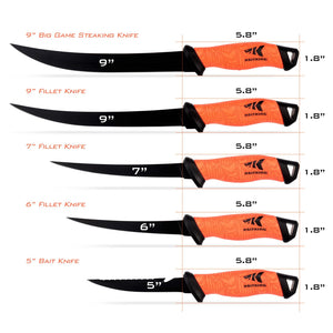 KastKing Fillet Knife 9 Inch, Professional Level Knives for Filleting Fish, Boning Meat And Processing Any Food.