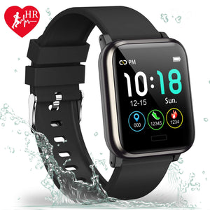 L8star Fitness Tracker HR, Activity Tracker with 1.3inch IPS Color Screen Long Battery Life Smart Watch with Sleep Monitor Step Counter Calorie Counter Smart Bracelet for Women Men (Black) - Ctfitnesswear